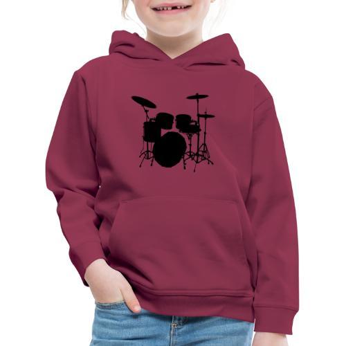 Drums in black - Sudadera con capucha premium niño