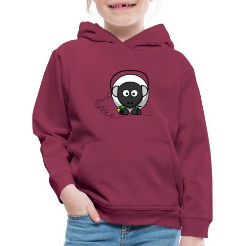 Oveja con cascos - Sudadera con capucha premium niño