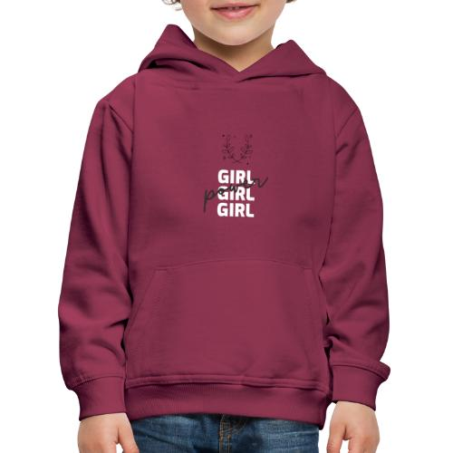 girl power t shirt design - Sudadera con capucha premium niño