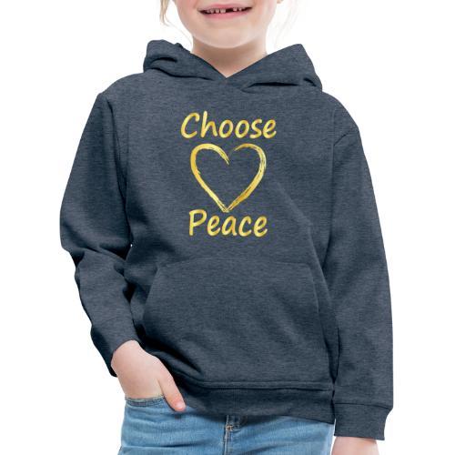 Choose Peace - Kids' Premium Hoodie