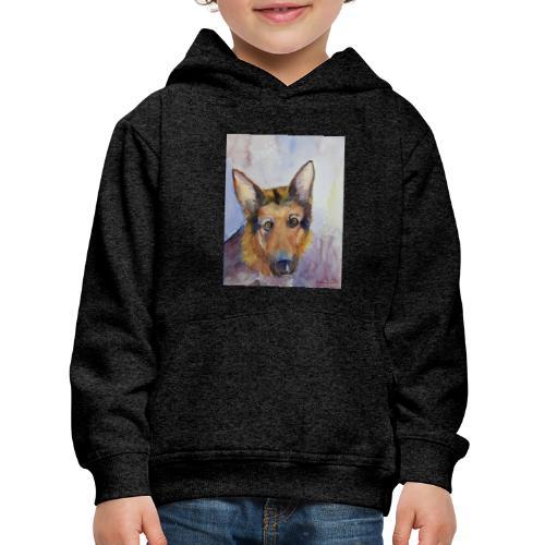 german shepherd wc - Premium hættetrøje til børn