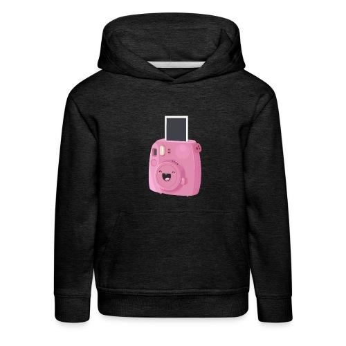 Appareil photo instantané rose - Pull à capuche Premium Enfant