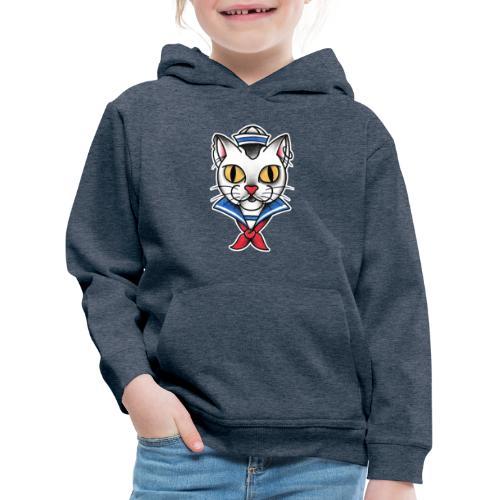 Sailorcat - Felpa con cappuccio Premium per bambini