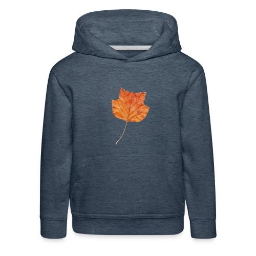 Herbst-Blatt - Kinder Premium Hoodie