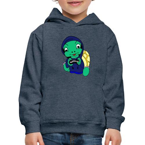 Hoodie gamer schildpad - Kinderen trui Premium met capuchon