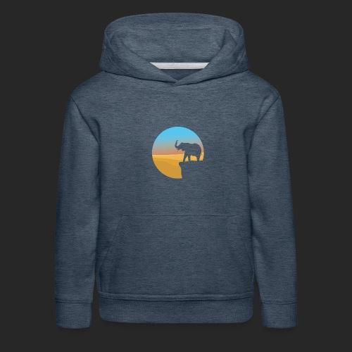 Sunset Elephant - Kids' Premium Hoodie