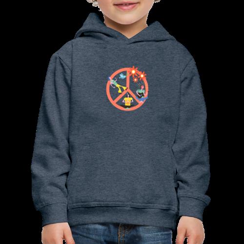 Hippie Peace - Kids' Premium Hoodie