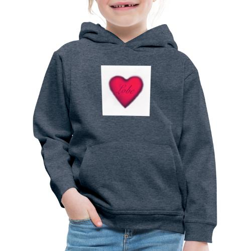 liebe, ist Freundlichkeit zwischen den Menschen - Kinder Premium Hoodie