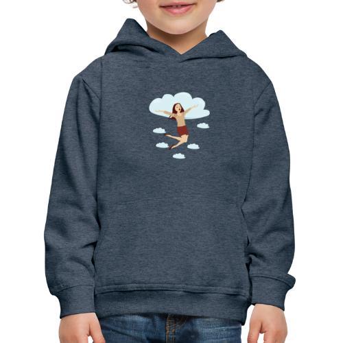 In de wolken - Pull à capuche Premium Enfant