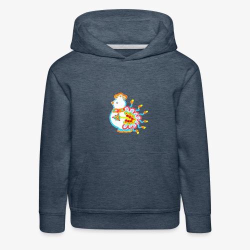 Vogel neon bunt - Kinder Premium Hoodie