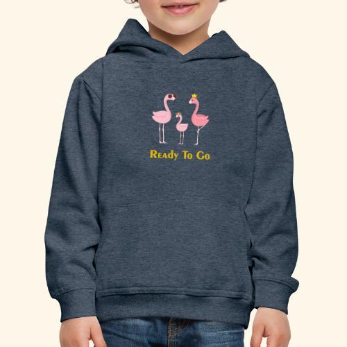 flamingo family ( ready to go ) - Kids' Premium Hoodie