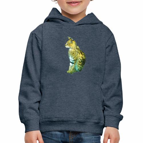 Schöner sitzender Serval - Kinder Premium Hoodie