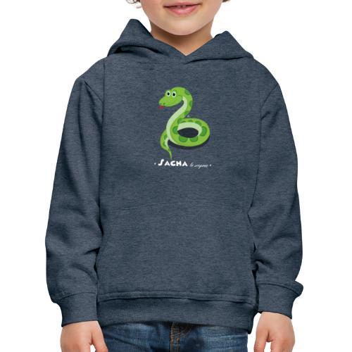 Sacha le serpent - Pull à capuche Premium Enfant