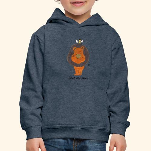 Löwe und Biene - Kinder Premium Hoodie