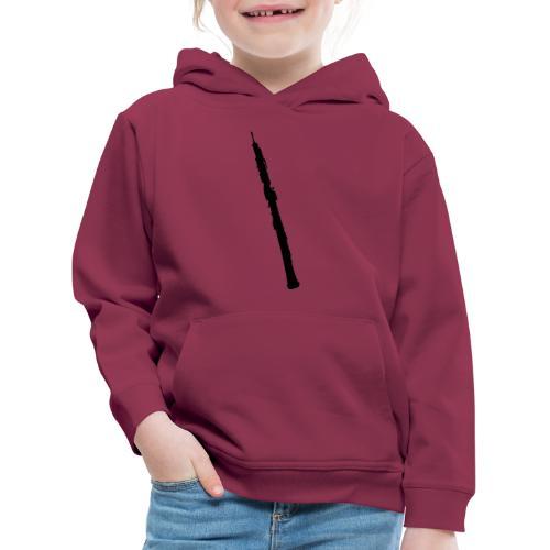Oboe en sombra negro - Sudadera con capucha premium niño