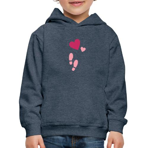 Heart & steps - Premium-Luvtröja barn