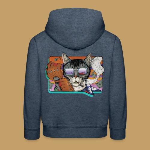 Crime Cat in Shades - Bluza dziecięca z kapturem Premium