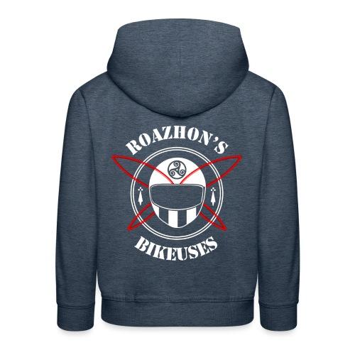 Roazhon's Bikeuses Rennes - Pull à capuche Premium Enfant