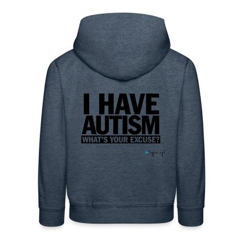 I have autism... (black) - Bluza dziecięca z kapturem Premium