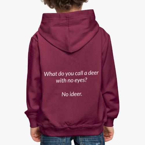 Deer With No Eyes - Kids' Premium Hoodie