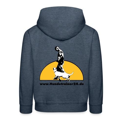 logo gelb schwarz - Kinder Premium Hoodie