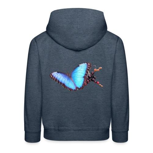 Morpho butterfly - Kinderen trui Premium met capuchon