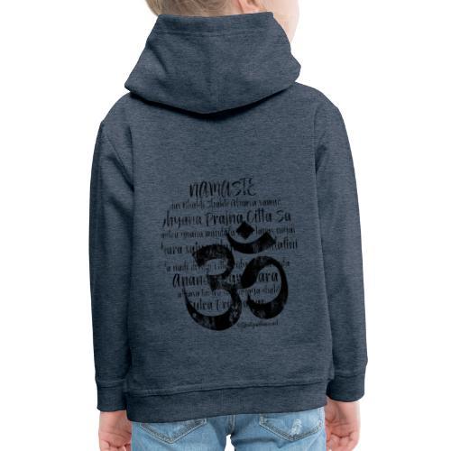 OM - Namaste black rugged - Kinder Premium Hoodie