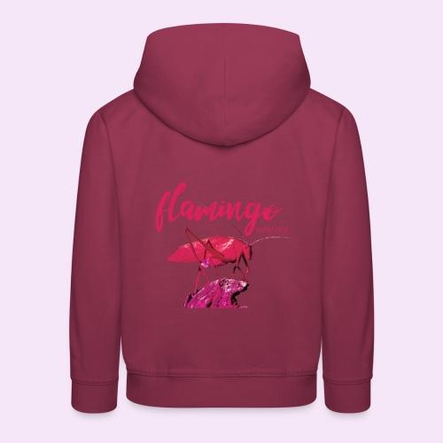 Wannabe Flamingo Sprinkhaan HOT PINK BABY - Kinderen trui Premium met capuchon