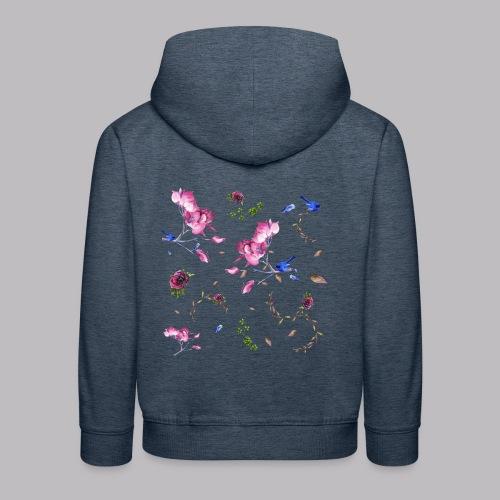 spring pattern - Felpa con cappuccio Premium per bambini