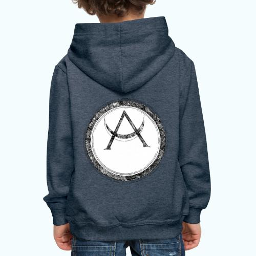 Mystic motif with sun and circle geometric - Kids' Premium Hoodie