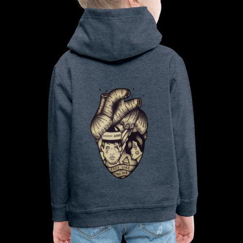 Heart - Felpa con cappuccio Premium per bambini