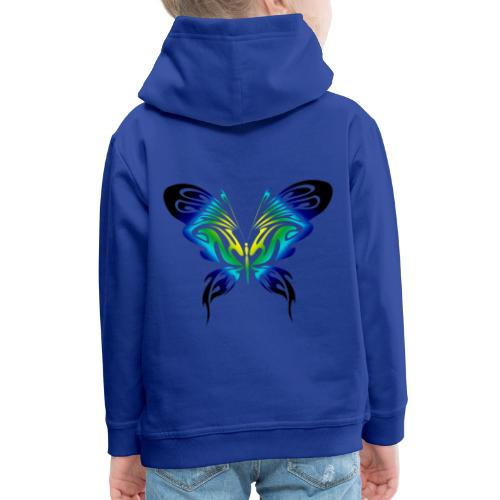 Motyl kolor - Bluza dziecięca z kapturem Premium