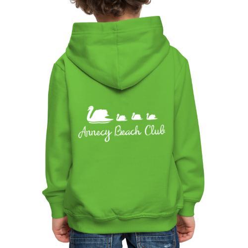 Annecy Beach club - Cygnes - Pull à capuche Premium Enfant