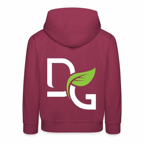 DrGreen Logo Symbol weiss grün - Kinder Premium Hoodie