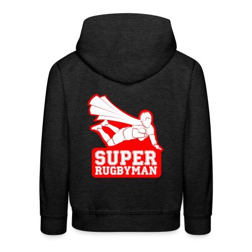 Super-Rugbyman - Pull à capuche Premium Enfant