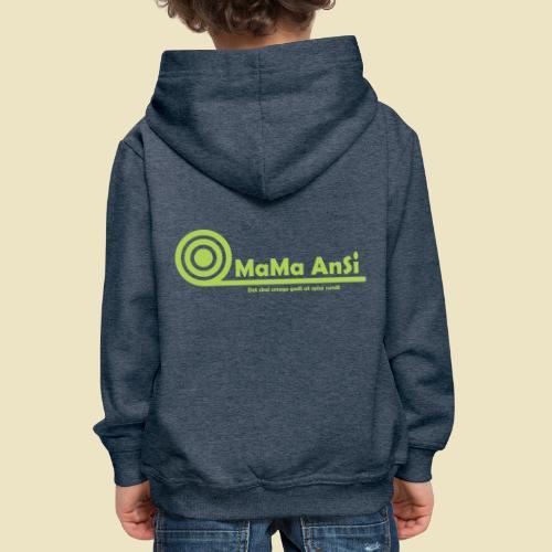 MaMa AnSi G logo - Premium hættetrøje til børn
