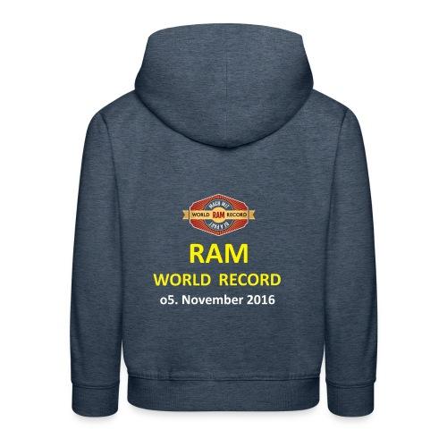 RWR gelb mit Datum (weiß) - Kinder Premium Hoodie