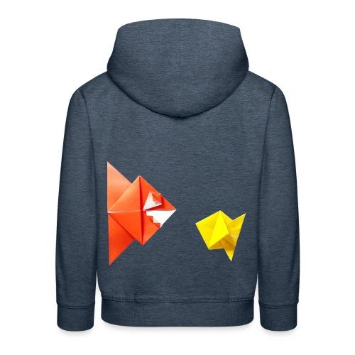Origami Piranha and Fish - Fish - Pesce - Peixe - Kids' Premium Hoodie