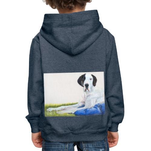 Grand danios harlequin - Premium hættetrøje til børn
