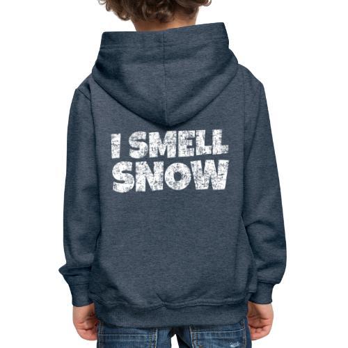 I Smell Snow Schnee, Weihnachten & Wintersport - Kinder Premium Hoodie