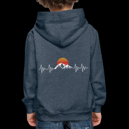Heartbeat Berge - Herzschlag Wanderer T-Shirt - Kinder Premium Hoodie