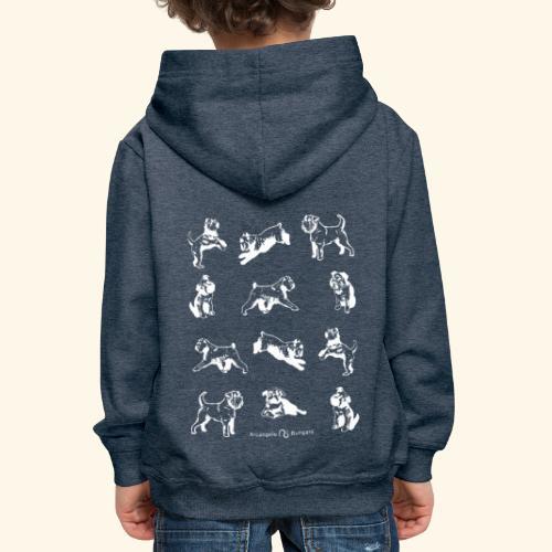 Brussel Griffon Pattern white - Pull à capuche Premium Enfant