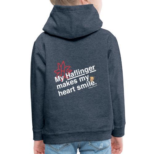 Haflinger Heart Smile - Blau - Kinder Premium Hoodie