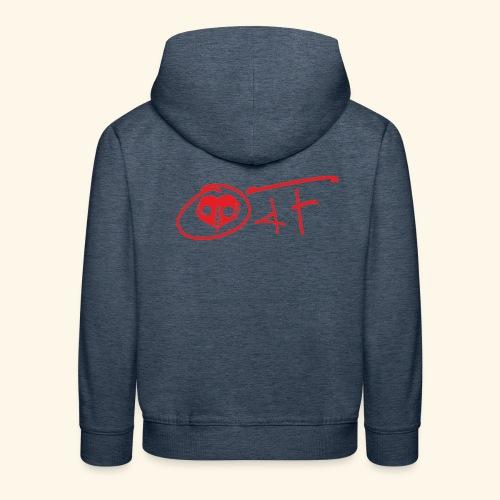 O4F ROSSO - Felpa con cappuccio Premium per bambini