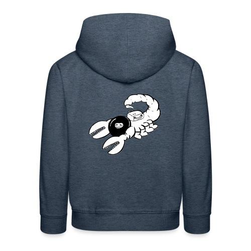 Space Scorpions?! (Black and White) - Kids' Premium Hoodie