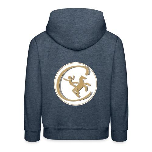 Contre Galop Logo entouré - Pull à capuche Premium Enfant