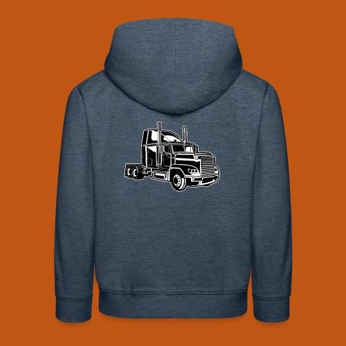 Truck / Lkw 02_schwarz weiß - Kinder Premium Hoodie