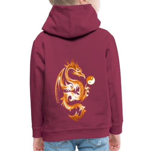 Der Drache spielt mit der Energie des Lebens. - Kinder Premium Hoodie