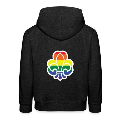 Regnbuespejder jakker og t-shirts mv - Premium hættetrøje til børn