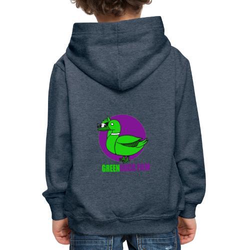 Greenduck Film Purple Sun Logo - Premium hættetrøje til børn